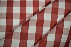 Tablecloth Classic Checkered Red Fabric 62quot;Wide Premium Durable Soft Made In USA $6.45