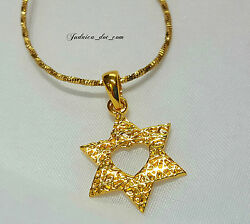 14K Gold Filled Star Of David Necklace Magen David Pendant Israel Jewish Jewelry