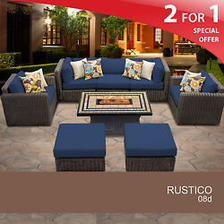 Rustico 8 Piece Outdoor Wicker Patio Furniture Set 08d 2 for 1