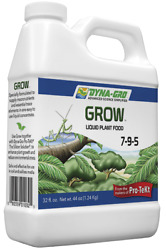 Dyna Gro Grow 7 9 5 32 oz. Quart Liquid Plant Food Fertilizer Hydroponic Bloom $20.99