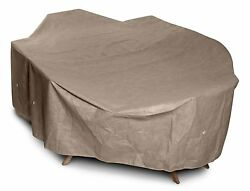 Outside Dining Furniture Protection Large Set High Back Cover Patio Yard Taupe