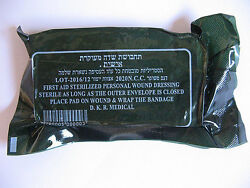 151020 New Israeli Army Field Bandage Sterile Combat Wound Dressing First Aid $14.99