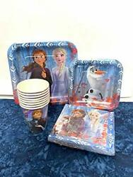 Disney Frozen II Birthday Party Express Pack for 8 guests PlatesCupsNapkins $14.95