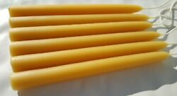 Pure Michigan 100% Beeswax taper candles 7 8quot; 3 4quot; 5 8quot; 1 2quot; 3 8quot; hand dipped $20.99