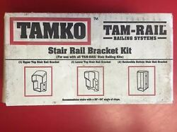 TAM-RAIL Stair Rail Bracket Kit in White for Tamko Vinyl Railing System