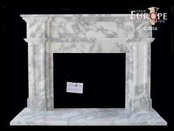 BEAUTIFUL HAND CARVED ITALIAN MARBLE  EUROPEAN DESIGN FIREPLACE MANTEL - IMM2