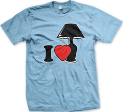 I Love Lamp Heart lt;3 Light You Quote Silly Crazy Like Funny Comedy Men#x27;s T Shirt $12.20
