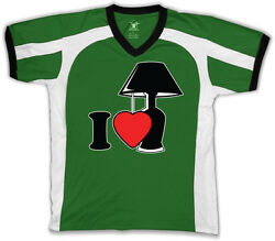 I Love Lamp Heart lt;3 Light You Quote Silly Crazy Like Fun Men#x27;s V Neck Sport Tee $15.96