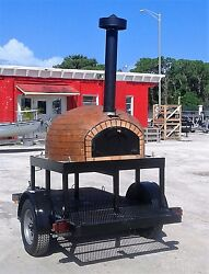 Wood fired pizza oven - Concession Trailer