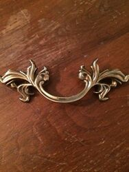 Vintage look Belwith Brass French Provincial Drawer Pull Handles Gold NEW $9.95