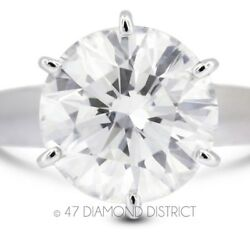 2.09ct. F-SI3 Ex Round Certified Diamond 14K Gold Cathedral Solitaire Ring 4.9gm