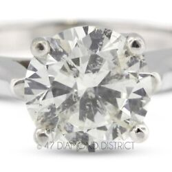 2.07ct. H-SI3 VG Round Certified Diamond 14K Gold Cathedral Solitaire Ring 5.4gm
