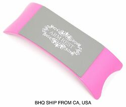 Plastic & Silicone Cushion Pillow Salon Hand Holder Nail Art Arm Rest (Pink)