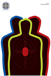 NS 12 NS12 Triple Silhouette Splatter Target 12quot; x 18quot; 9 Hostage Situation $15.98