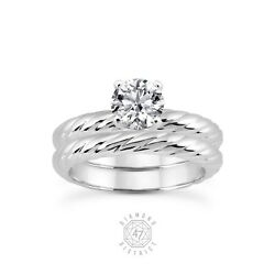 3.16ct. E-I1 V.Good Round Certified Diamond 950 PL. Classic Matching Rings 12.3g