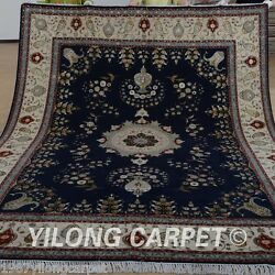 Yilong 8'x10' Wool Area Rug Hand knotted Persian Carpets Hand made Outdoor 1356