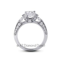 3.25ct. tw. F-SI3 VG Round AGI Certified Diamonds 14K Vintage Accents Ring 7.6gm
