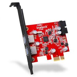 Inateck 2 Port Pci E USB 3.0 Express Card Pci E USB 3.0 Hub Controller Adapter $19.99