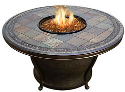 Agio Tempe Gas Fire Pit Table with Fire Glass Cover & Delivery Included