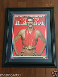 Michael Phelps 27' x 34' Framed Grandstand Sports Autographed 2008 Olympics 11