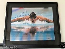 Michael Phelps Grandstand Sports Signed 16 x 20 Limited Edition 150 11 Olympic