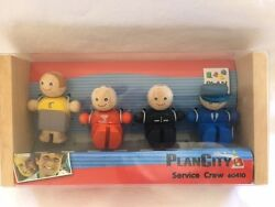Wooden Toy Plan Toys City Series Service Crew Non Toxic Natural Materials New Fa