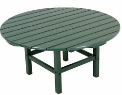 Green Round Patio Table Conversation Outdoor Living Furniture Resin All-Weather