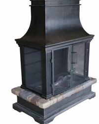 Sevilla Outdoor Patio SteelSlate Wood Burning Fireplace Fire Poker Heater Yard