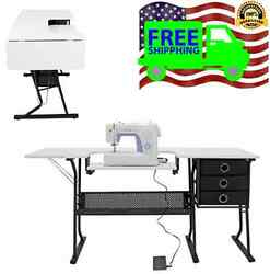 Sewing Machine Table Hobby Center Work Station Home Organize Space Crafts Studio