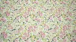 Quilt Fabric Pink Flower Floral Print Craft Apparel Clothing 45