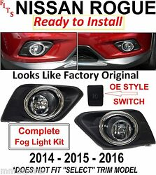 2014 2015 2016 FOR NISSAN ROGUE FOG LIGHT LAMPS KIT BEZELS HARNESS SWITCH BULBS $51.77
