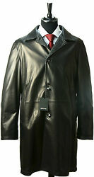 NEW KITON COAT OVERCOAT 100% LEATHER CASHMERE 40 US 50 EU KG58 SPECIAL XMAS SALE