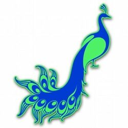 Peacock Blue Car Vinyl Sticker - SELECT SIZE