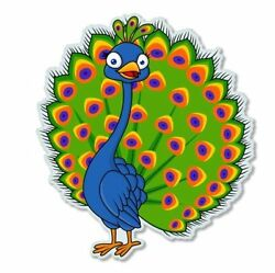 Peacock Cute Car Vinyl Sticker - SELECT SIZE