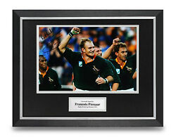 Francois Pienaar Signed Photo Framed 16x12 Rugby Autograph Memorabilia Display GBP 99.99