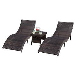 Acapulco 3-piece Wicker Patio Chaise Lounge Set - Brown - Christopher Knight ...