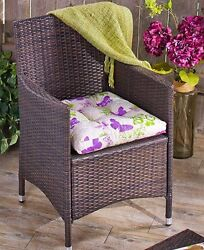 (1) Single Outdoor Butterfly Design Seat Cushion For Patio Deck Porch Home Decor