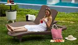 Outdoor Chaise Lounge Patio Chair Poolside Furniture Adjustable Wicker Set of 2