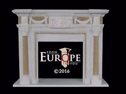 HAND CARVED SOLID MARBLE EUROPEAN DESIGN FIREPLACE MANTEL - TR1