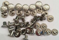 20 Pack Fancy Floral Silver Chicago Screws 14