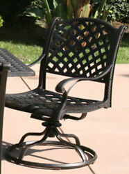 Pair of 2 Antiqued Bronze Nassau Swivel Arm Chairs    DL13-F-508-NA