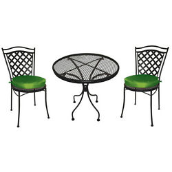 Wrought Iron Patio Set Furniture 3 Piece Outdoor Pool Deck Chair Yard Dining