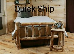 Rustic Log Bed!! Log bedroom furniture!Rustic Decor! Cabin or Home! GET IT FAST