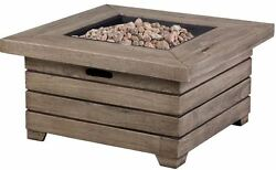 Backyard Patio Sturdy Stainless Steel Burner GasTable Fire Pit Easy Assemble