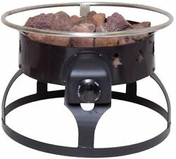 Portable Propane Gas Outdoor Sturdy Steel Black Finish Fire Pit Easy Use Durable