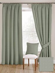 McAlister Textiles Plain Herringbone Wool Look Made to Measure Sky Blue Curtains