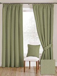 McAlister Textiles Herringbone Wool Look Made to Measure Sage Green Curtains