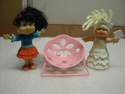 CPK Cabbage Patch Lil Sprout Dollhouse w Pink Chair Furniture doll lot
