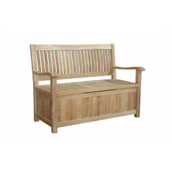 Anderson Teak Patio Lawn Garden furniture Del-Amo Storage Bench