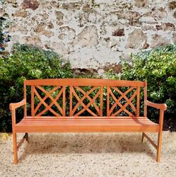 Wood Patio Furniture Backyard Lawn And Garden Bench Decorative Porch 5 Feet Seat